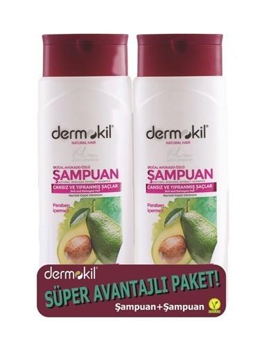Dermokil Dermokil Avokado+Avokado Şampuan-2'li Avantajlı Set 400 ml Renksiz